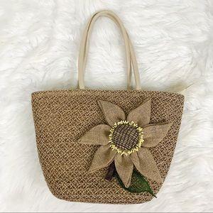 Handbags - Beautiful Handwoven Bag with Flower Detail